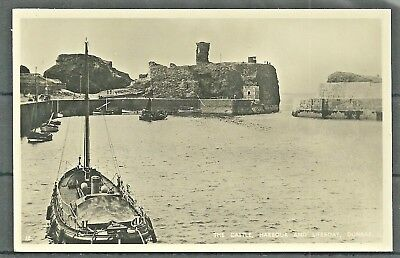 Postcard : Dunbar the Lifeboat in Harbour and Castle  RP