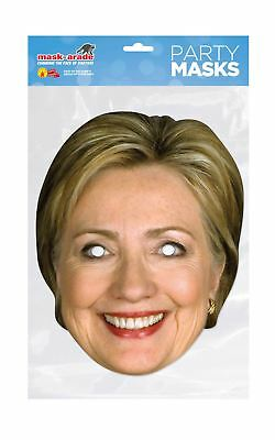 Hillary Clinton Celebrity Mask Card Face and Fancy Dress Mask