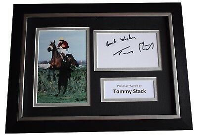Tommy Stack Signed A4 FRAMED Autograph Photo Display Grand National Red Rum COA
