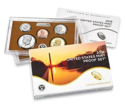 2018-S Proof Coin Set-10 proof coins with Box and Coa