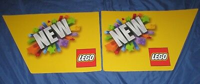 LEGO Toys R Us Exclusive Display/Sign Lot/Set of 2  (Almost 2' Long Each')