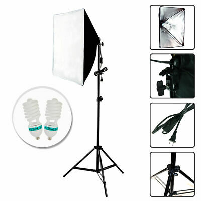 2x200W Photography Continuous Bulb Studio Video Light Stand Softbox Lighting Kit