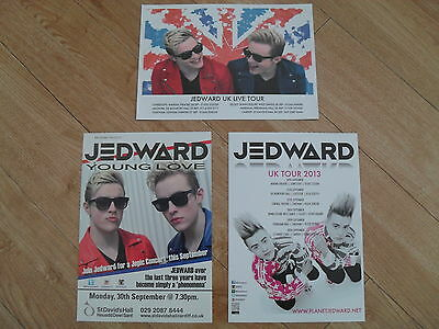 JEDWARD - 3 different Lovely colour tour flyers (Mint) THE X FACTOR