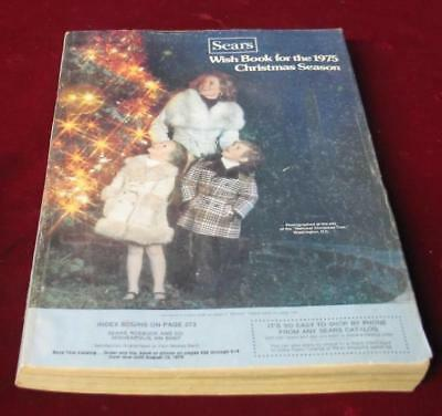Vintage 1975  Sears Roebuck & Company Christmas Wishbook Catalog