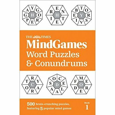 The Times Mind Games Word Puzzles and Conundrums Book 1 - Paperback NEW The Time