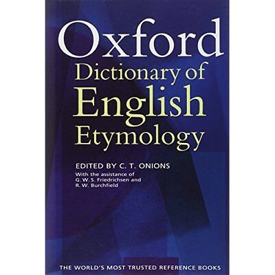 The Oxford Dictionary of English Etymology - Hardcover NEW Friedrichsen, G 1966-