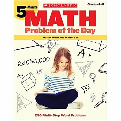 5-Minute Math Problem of the Day: 250 Fun, Multi-Step P - Paperback NEW Lee, Mar