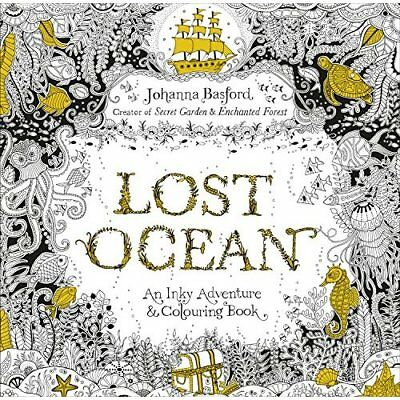 Lost Ocean: An Inky Adventure & Colouring Book - Paperback NEW Johanna Basford 2