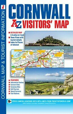 Cornwall Visitors Map (A-Z Visitors Map) by Geographers' A-Z Map Company Book