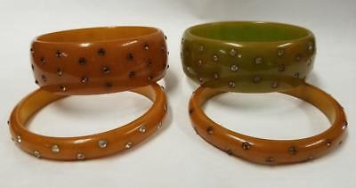 BAKELITE tested oxen blood  cinnamon oval shaped Bangle Bracelet ~uniquely colored vintage costume jewelry