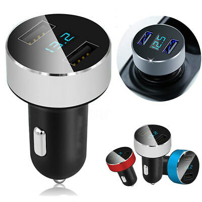 Car Charger 5V/3.1A Fast Charge Dual USB Port Cigarette Lighter Adapter Voltage