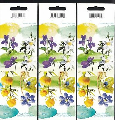 Estonia 2004 Forest Flowers  -  5 Booklets