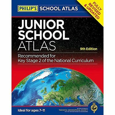 Philip's Junior School Atlas: 9th Edition (Philips Scho - Paperback NEW Philips