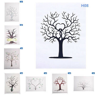 THUMBPRINT FINGERPRINT TREE Wedding Guest Book Guestbook DIY Craft ...