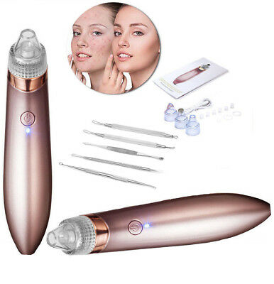 Electric Facial Blackhead Remover Nose Pore Pimple Cleaner Vacuum Suction Device