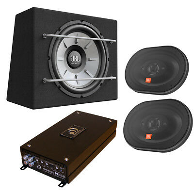 """Auto Anlage Massive 4 Kanal Endstufe + 30cm JBL Subwoofer + 6x9"""" Triaxial System"""