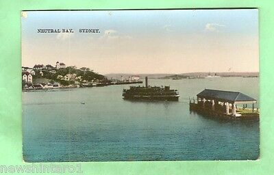 #a. Australian Shipping Postcard - Ferry At Neutral Bay, Sydney