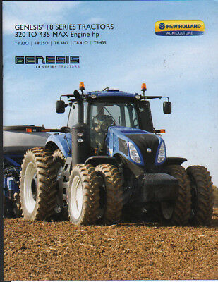 """New Holland """"Genesis T8 Series"""" 320 to 435hp Tractor Brochure"""