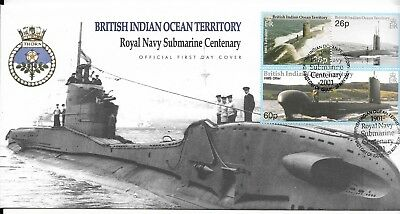 British Indian Ocean Territory 2001 Submarine Centenary FDC (A)