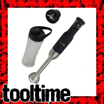 Voche Black 500W Intuitive 1-Touch Variable Speed Hand Blender + Smoothie Bottle