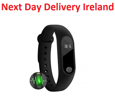 Fitness Activity Tracker Pedometer Heart Rate Sleep Bracelet Watch IOS Android