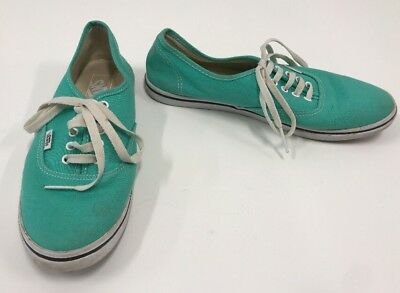 81801851703d5f VANS CANVAS SNEAKERS Womens Size 8 Mint Green Not Sure of Style ...