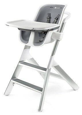 4Moms Magnetic Tray Top Adjustable Height Kids Highchair High Chair White/Grey
