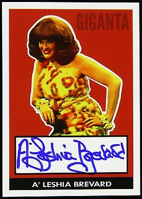"1979 Aleshia Brevard Giganta ""Legend of the Superheroes"" Signed LE Trading Card"