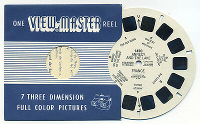 ANNECY and the LAKE France 1956 Belgium-made ViewMaster Single Reel 1450