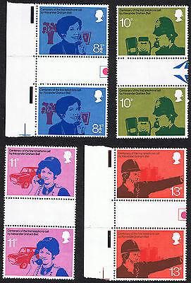 Centenary of Telephone 1976 - British Mint Stamps Gutter Pairs