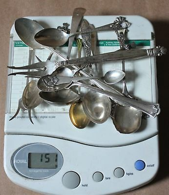 Nice Lot of 9 Sterling Silver Spoons & 4 Sterling Pickle Forks 151 Grams TW