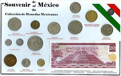 Mexico 15 Pc. Coin & Paper Money Type Set!!!!!!!..starts @ 2.99