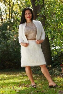 MOHAIR VEST with ANGORA CARDIGAN & SKIRT