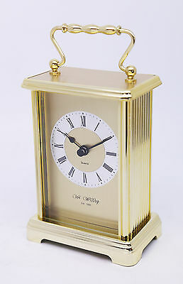 Personalised 2 Toned Carriage Clock with Roman Numeral Display, Engraved