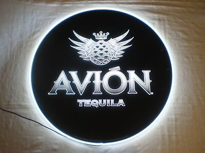 """NEW IN BOX AVION TEQUILA 23"""" ROUND LIGHTED LED ADVERTISING SIGN by PERNOD RICARD"""