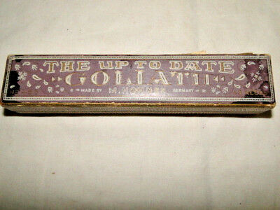 """Vintage """"the Goliath"""" Tremelo Harmonica In """"c"""" By M. Hohner With Original Box"""
