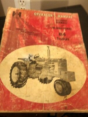 Vintage IH International Harvester Manual & Farmall 806 Tractors