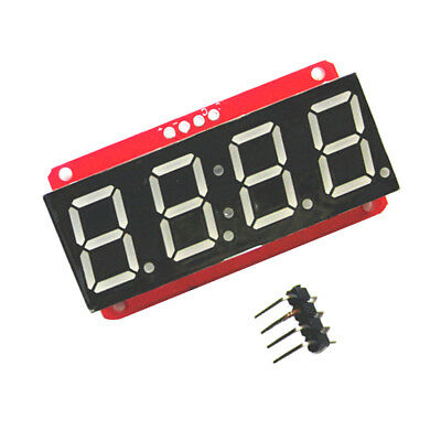 "4 Digit 7-Segment 0.56"" LED Display Module Clock HT16K33 I2C for Arduino"