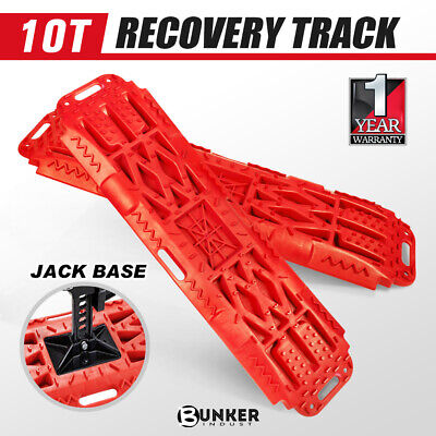 Pair Recovery Tracks 10T Sand Mud Snow Red Tracks Trax 4X4 Offroad