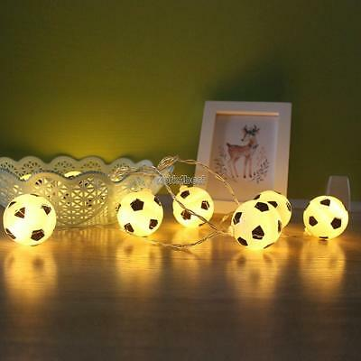 20 Pcs or 10 Pcs Creative Football Bulb LED Light String Battery Powered WST