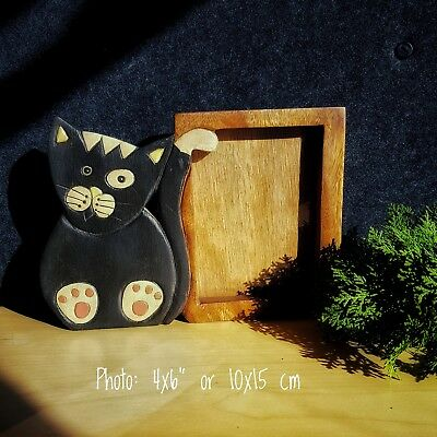 Kids Childrens Room wood Photo Frame Home Decor Picture CAT