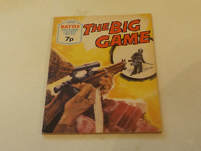BATTLE PICTURE LIBRARY NO 831,dated 1974!,V GOOD FOR AGE,VERY RARE,44 yrs old.