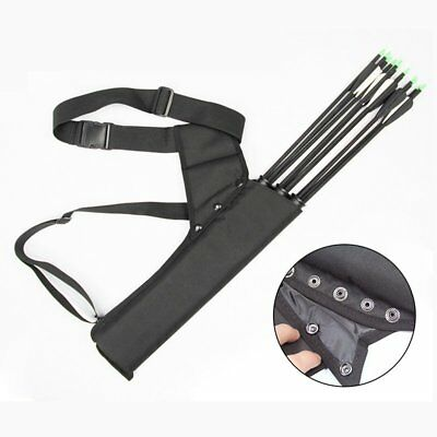 Bow Bag Arrow Holder Adjustable Strap 3-Tube Archery Quiver Cover Cases Tool TU