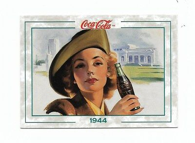Coca Cola Collection Series 2 (1994) 1944 # 135 War Time Military Woman