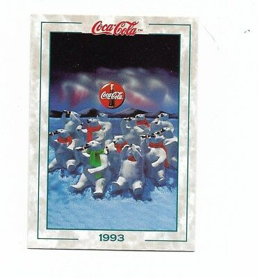 Coca Cola Collection Series 2 (1994) 1993 # 102 Polar Bears Coke Fact Trivia