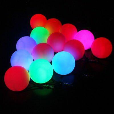 LED Multi-Coloured Glow POI Thrown Balls Light Up For Belly Dance Hand Prop TU