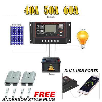 40/50/60A Solar Panel Controller Battery Charge Regulator 12V/24V With Dual Nice
