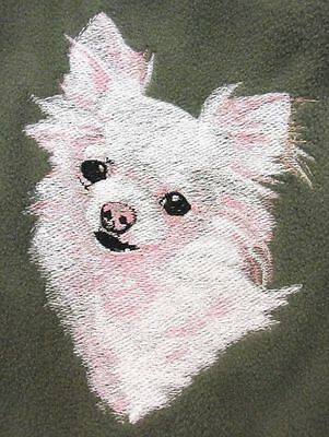 Embroidered Ladies Fleece Jacket - Chihuahua BT3989 Sizes S - XXL