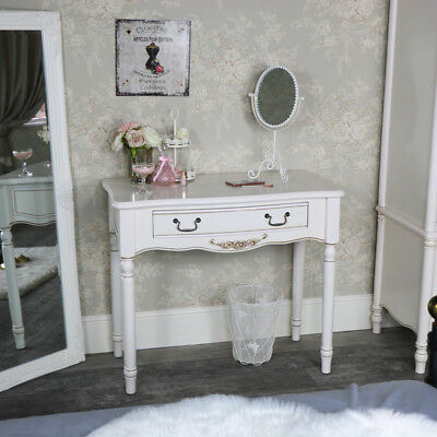 Antique cream 1 drawer console dressing table vintage French chic home furniture
