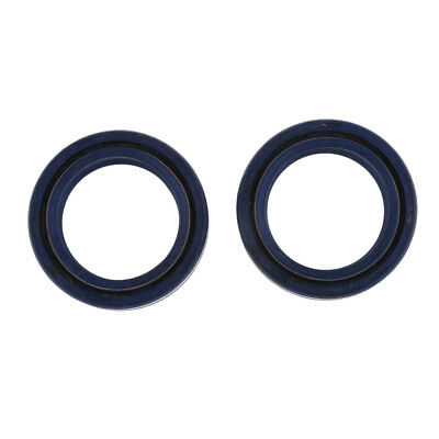 2 Pcs Motorcycle Exhaust Gaskets Front Rubber Oil Seal for Honda